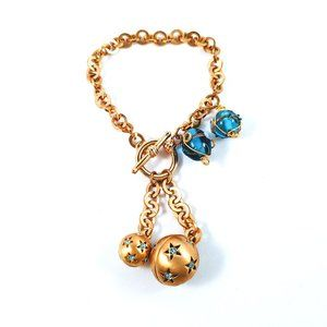 Jewelry - Starry Spheres Toggle Bracelet with Glass Charm